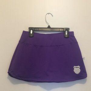 K-Swiss purple tennis skirt